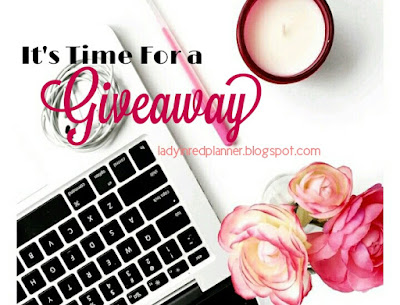 Giveaway Akhir Tahun 2018 by Lady in Red Planner, Blogger Giveaway, Blog, Hadiah,