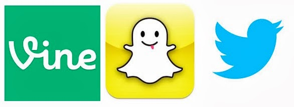 Vine, Snapchat y Twitter