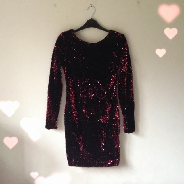 Sammi Jackson - Society of Chic Burgundy Sequin Dress