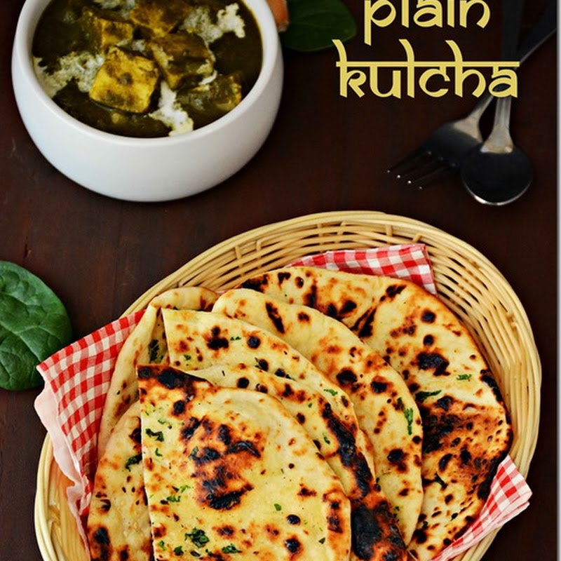 Kulcha / Kulcha with sesame seeds/ Plain Kulcha / Kulcha recipe with video