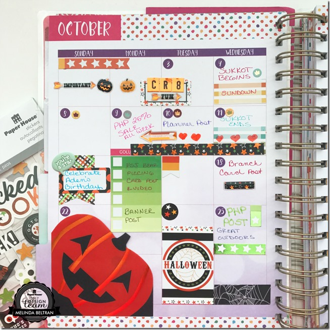 Paper House Productions Fall Planner Page Idea