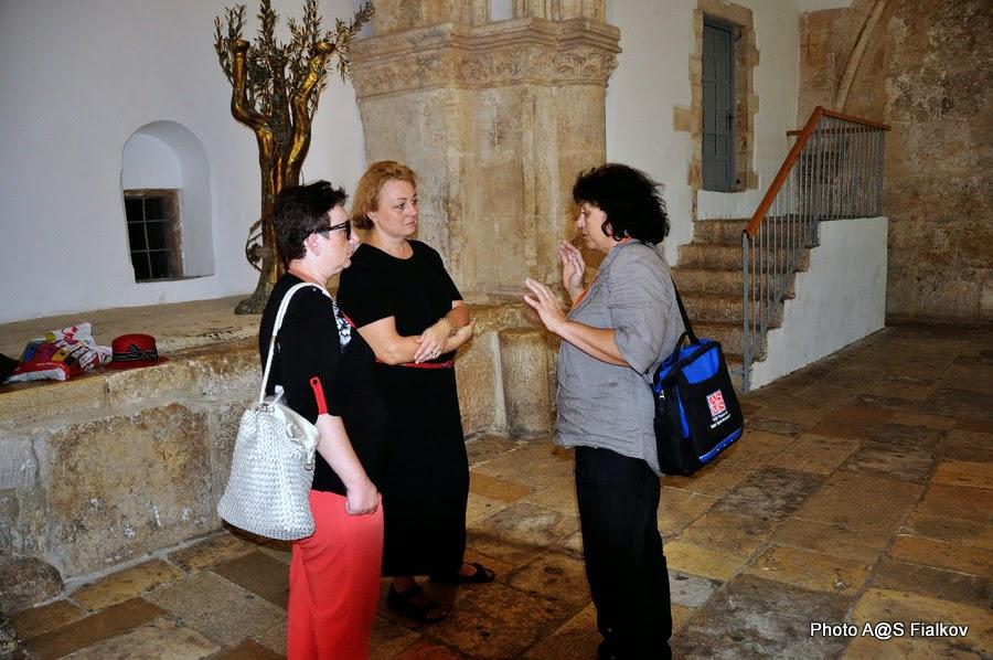 Горница Тайной Вечери. Экскурсия по Иерусалиму. Гид в Израиле Светлана Фиалкова.