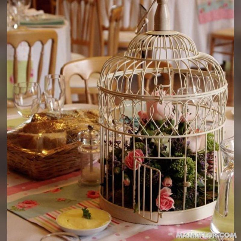 Centros-de-mesa-con-Jaulas-de-Pájaros---8