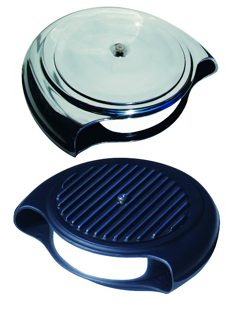 "Aluminum Finned Batwing Air Filters. Finned or smooth lid, polished or as-cast. 16 3/8"" wide x 14 3/8"" as cast 200.00, polished 350.00"