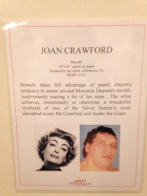 Joan Crawford at hte Museum of Bad Art Andre the giant hybrid - art notes