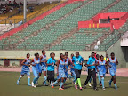 Les Léopards dames de moins de 20 ans au cours d'une séance d'entraînement au stade Tata Raphaël. Radio Okapi/Ph. Nana Mbala