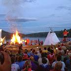 Inauguración del 14° Moot Scout Mundial en el el sitio de campamento
