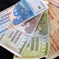 The Hyperinflation in Zimbabwe led to some amazing bank notes