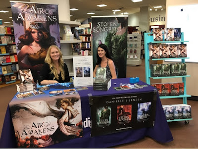 Elise and Danielle at Chapters Metro!