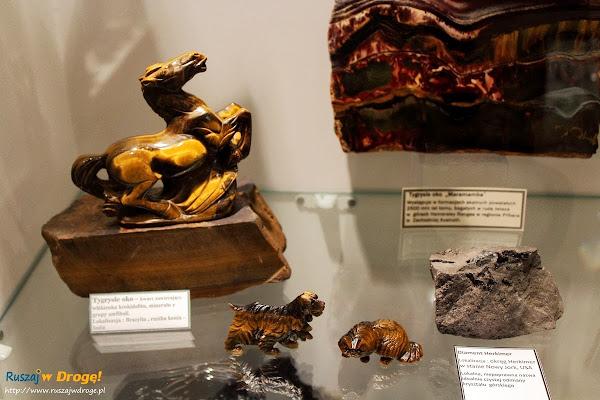 Muzeum Minerałów w Świętej Katarzynie - zwierzątka z tygrysiego oka
