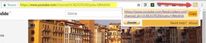 url-feed-estensione-chrome