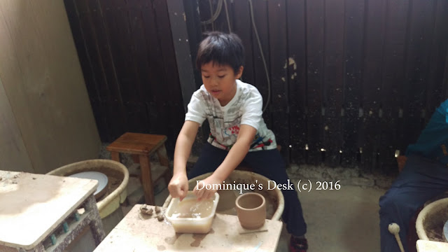 Doggie boy on the potter's wheel