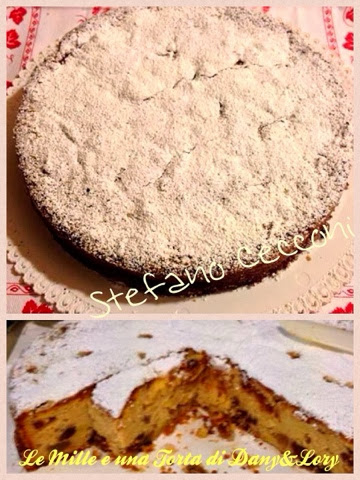 torta di mele con ripieno di castagne, amaretti e uva sultanina