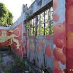 Fresque marquant la limite Île-de-France - Normandie