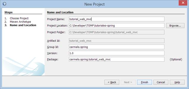 crear aplicación web con spring mvc
