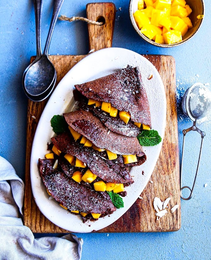 Eggless Chocolate Crepes Recipe   Breakfast Care