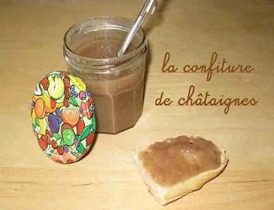 recette de la confiture de Chataignes