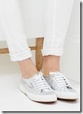 Silver Superga Plimsolls - white and navy also