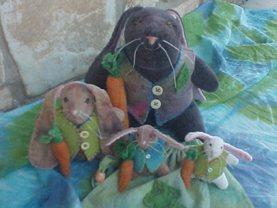 Hoppy Bunnies - Wool Stuffed, Waldorf Inspired