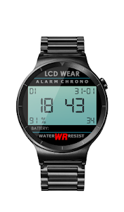Retro LCD Wear Watchface- screenshot thumbnail