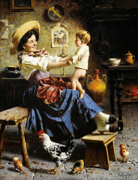 Eugenio Zampighi - Playing with the Baby