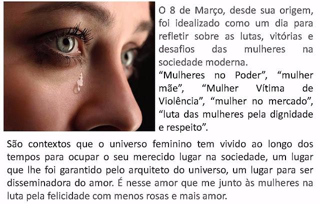 Homenagem às mulheres: menos rosas e mais amor.