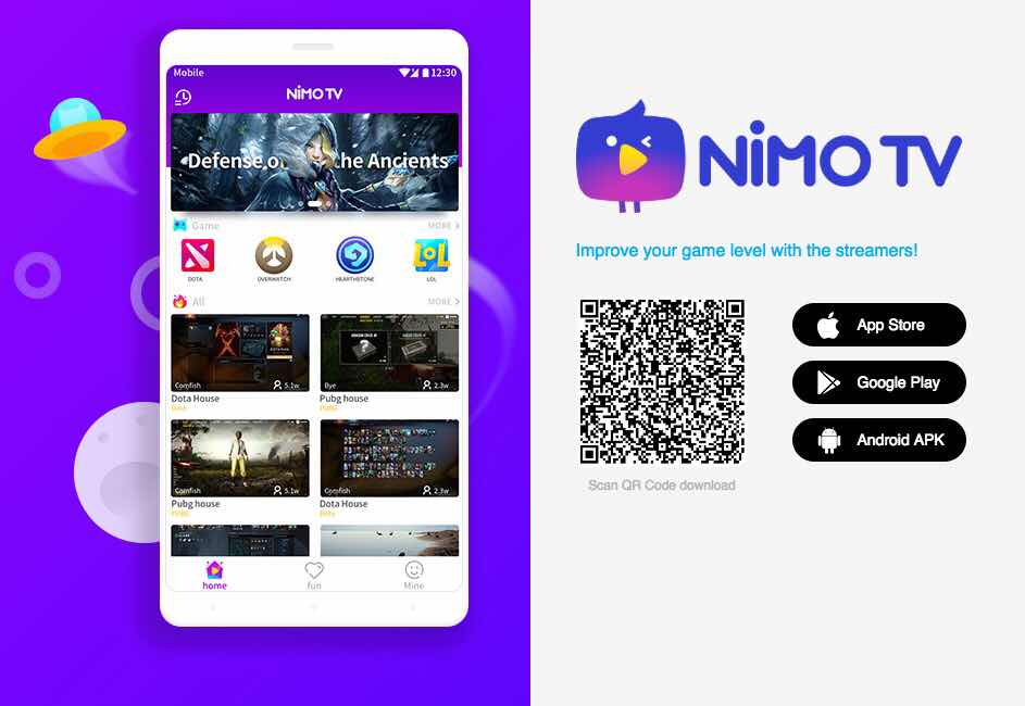 NiMO TV live streaming app
