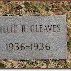 Billie Ruth Gleaves Daughter of Claude R. & Delma Fuqua Gleaves Hollis Wright Cemetery Mt. Juliet, Wilson County, Tennessee