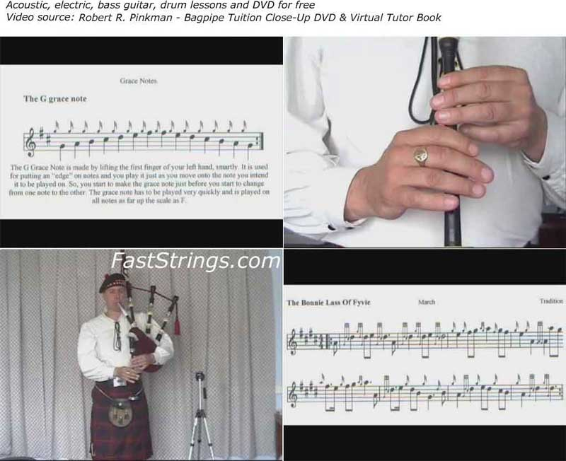 Robert R. Pinkman - Bagpipe Tuition Close-Up DVD & Virtual Tutor Book