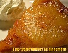 Fine tatin d'ananas au gingembre