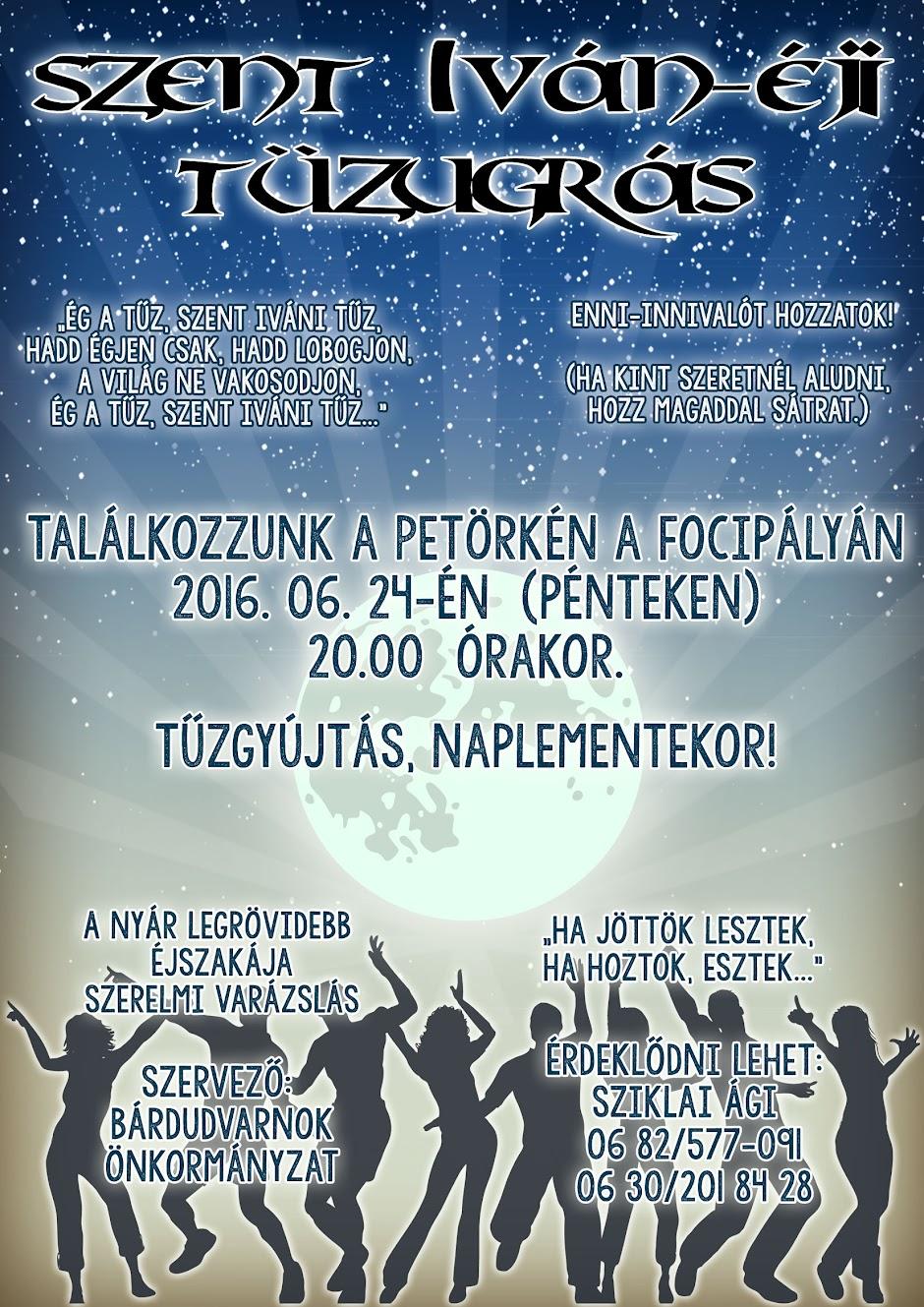 Szent Iván-éji tűzugrás plakát