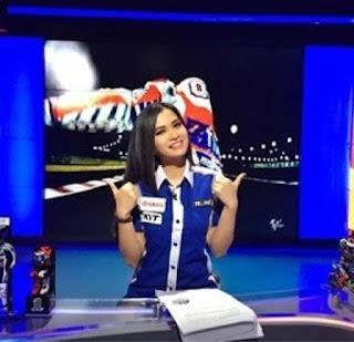 biodata maria vania host / presenter moto gp 2016