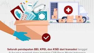 SRO Ajak Investor Pasar Modal Menolong Sesama Bantu Tanggulangi Covid-19