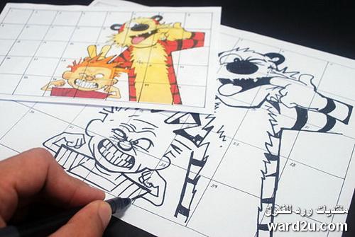 تعلم الرسم بالطريقه الشبكيه Grid Method