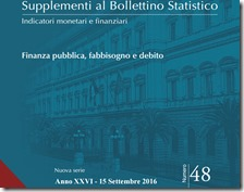 Supplementi al Bollettino Statistico. Settembre 2016