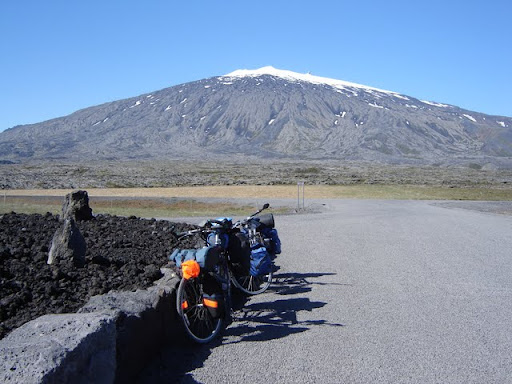 Resting to gaze at the Snæfellsjökull glacier [Iceland]