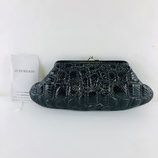 Quilted Snakeskin Clutch
