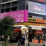 Akihabara is filled with AKB48 promotions in Akihabara, Tokyo, Japan