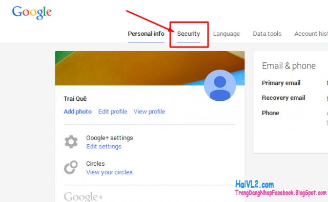 bảo mật tài khoản gmail của bạn