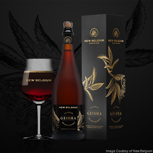 New Belgium Combines Coffee & Sour Ale in Latest Release: La Folie Grand Reserve: Geisha.