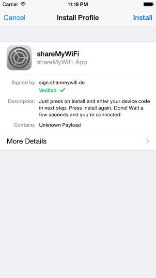 Wi-Fiを共有できるアプリ