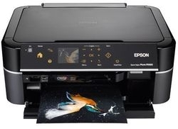 How to reset flashing lights for Epson EP-775A printer
