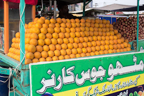 Local juice stall in Gujrat City
