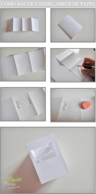 Cómo hacer candelabros de papel.
