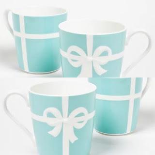 Tiffany & Co. NEW Tiffany Blue Bow Mugs, Set of 4