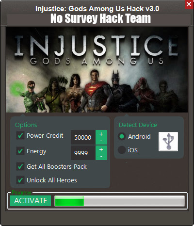 Injustice Gods Among Us No Survey Hack