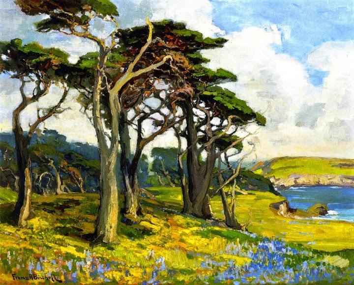 Franz Bischoff - Monterey Shore in Springtime