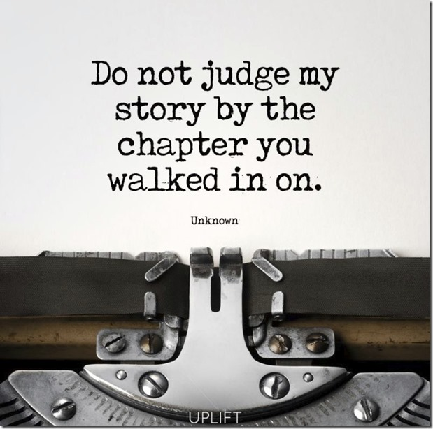 judge my story