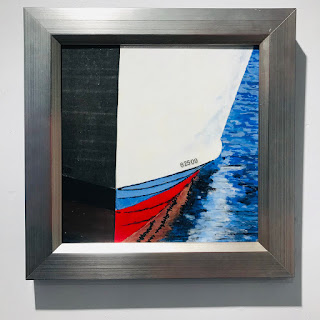 Contemporary Stylized Boat Painting