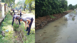 Jalan Penghubung 3 Desa Terendam Banjir, Polisi Langsung Buat Saluran Irigasi